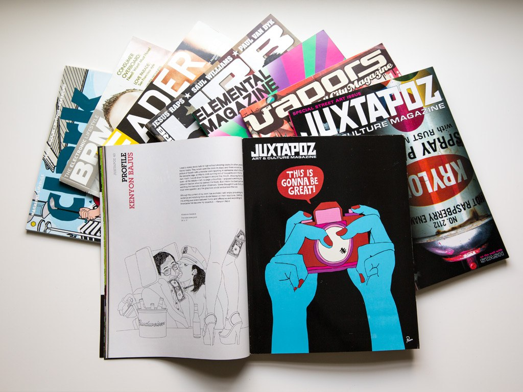 KENYONB in Juxtapoz, Vapors, Elemental, URB, Fader, BPM, Clark and more magazines