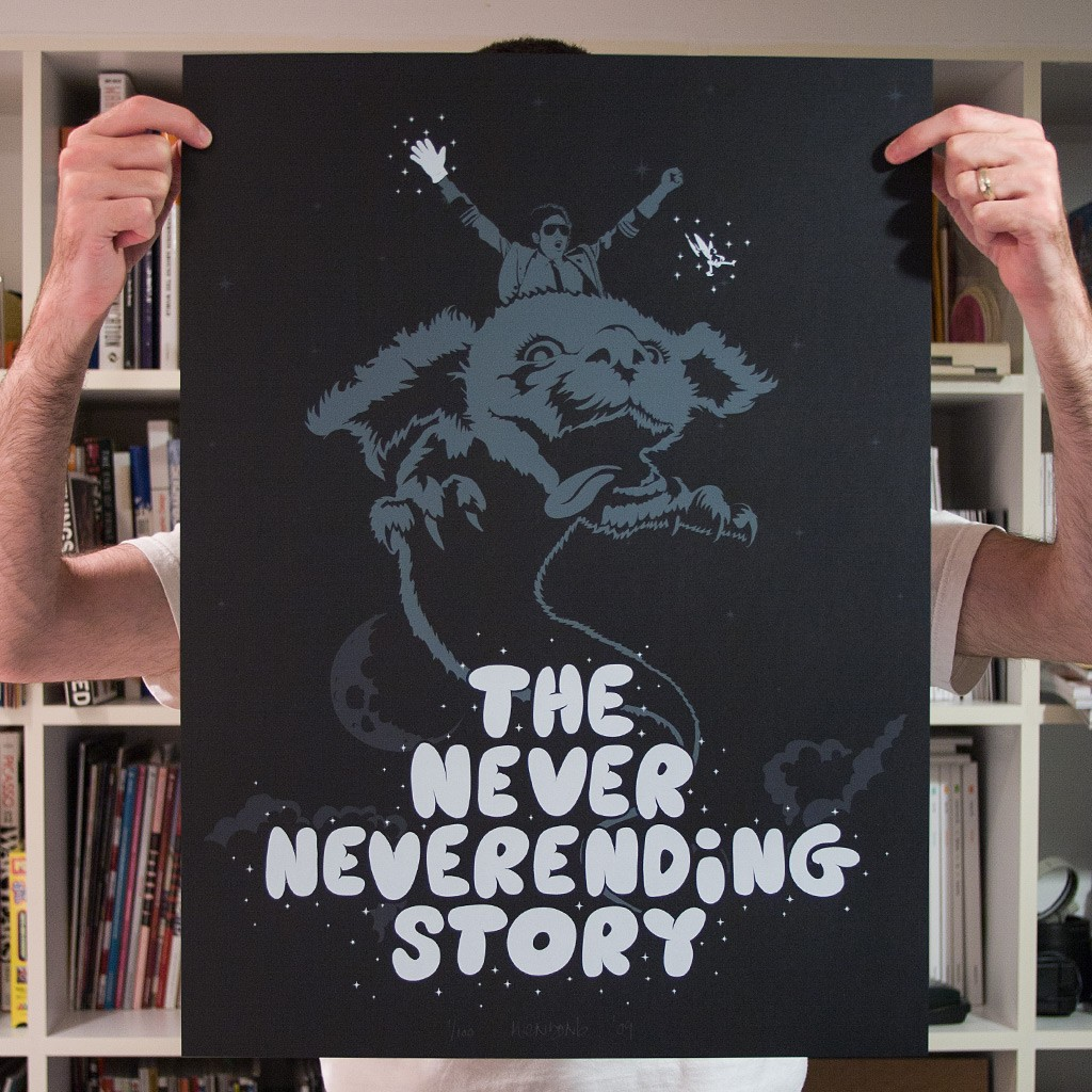The Never Neverending Story print