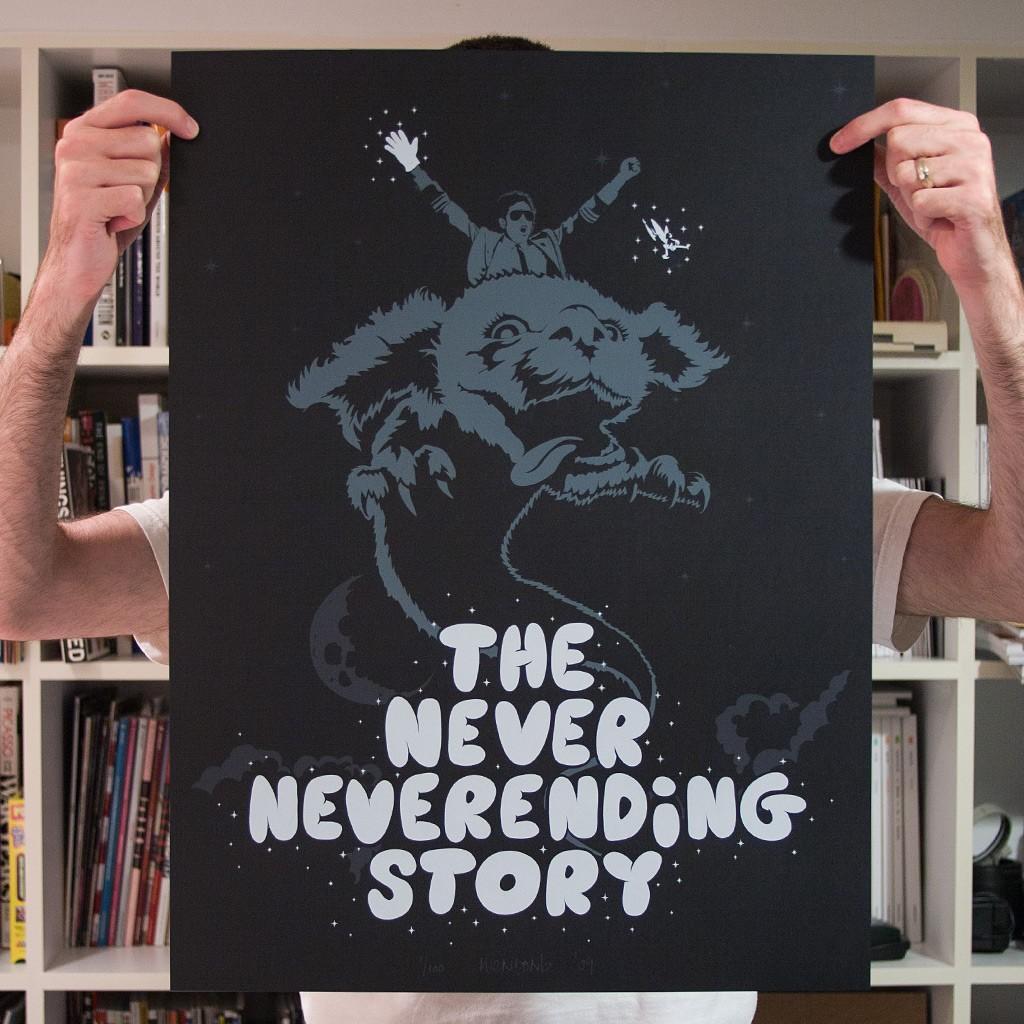 The Never Neverending Story print