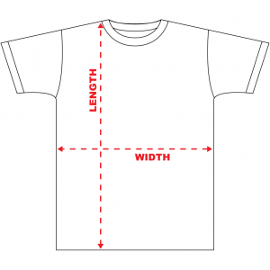 KENYONB T-shirt Dimensions