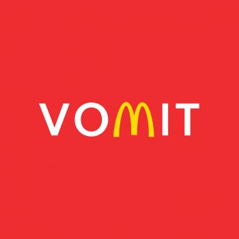 VOMIT, McDonald's, t-shirt, tee, tee shirt, red, yellow, I'm Lovin It